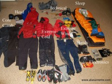 Gear for Mt. Vinson