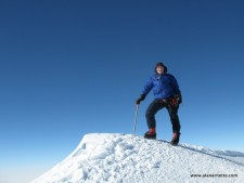 Alan on the summit of Vinson December 9, 2010