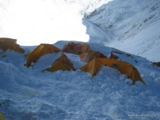 Storm on the Lhotse Face
