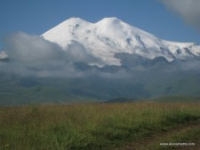 Touching the Elbrus Snow