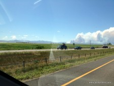 Smoke from I-25 on Sunday afternoon June 10, 8000 acres