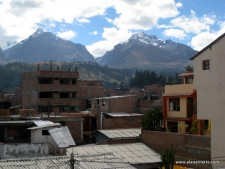 Rooftop view in Huaraz