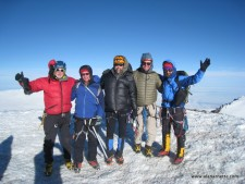 Alan, Rodney, Stan, Scott, Jim on Rainier's Summit