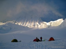 Col Camp on Alpamayo 2012