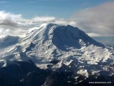 Mt. Rainier from the air