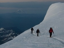 Climbing at Sunrise on Rainier