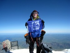 Alan on the summit Mt. Elbrus