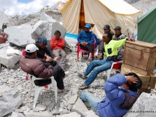 Sherpas at Everest Camp 2