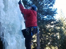 Alan Ice Climbing
