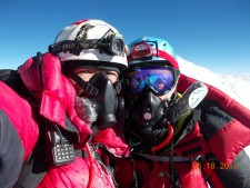 IMG Climbers on Lhotse with TopOut and Summit Oxygen masks