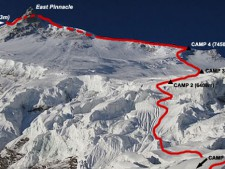 Manaslu Northeast Ridge Route