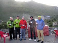 The team in Arughat