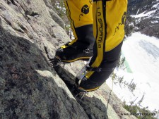 Working on crampons on rock skills