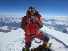 Alan and Ida on the sumit of K2, <a href=