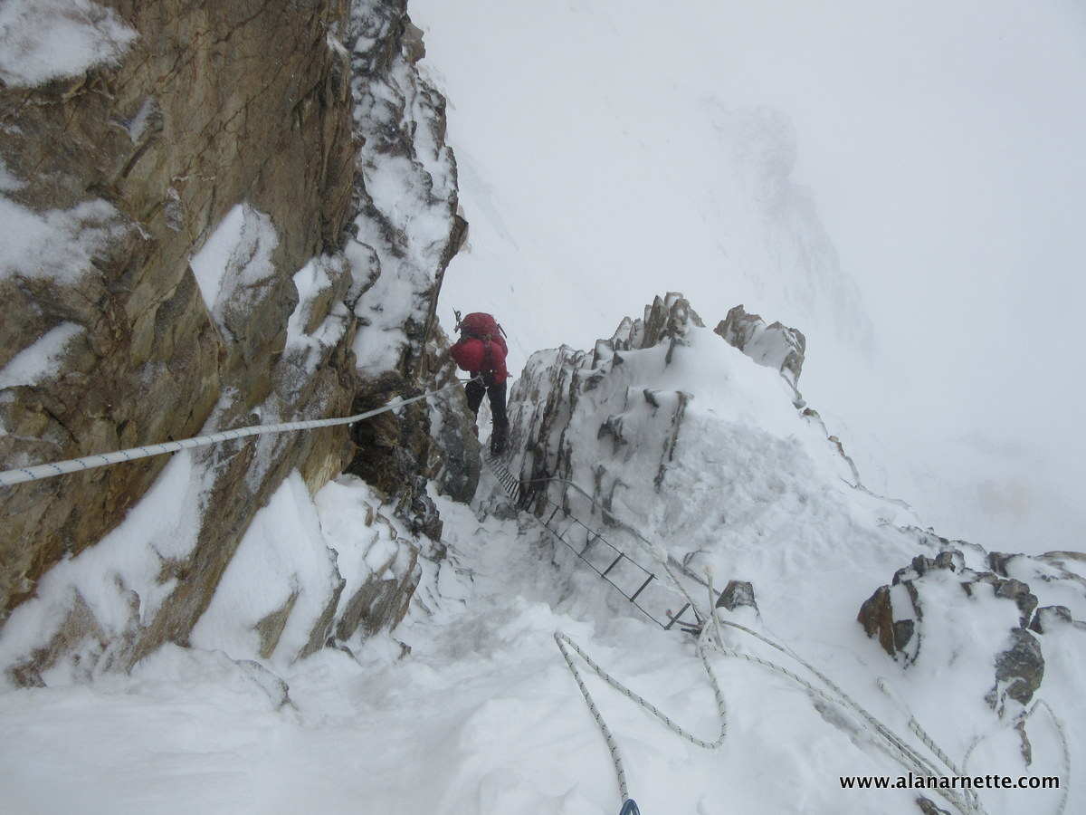 Down Climbing K2 Houses Chimney