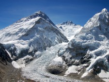 Everest as seen from Pumori Camp 2