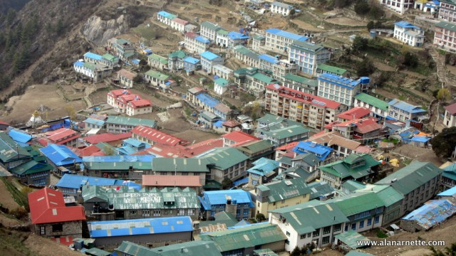 Namche Bazaar on April 29