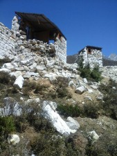 Pangboche Earthquake Damage
