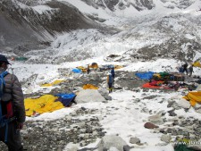 Base Camp after earthquake - Everest 2015