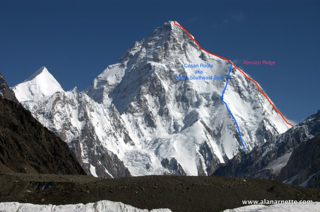 Why K2 Will Never Become Everest | The Blog on alanarnette.com Map Of K Accident on