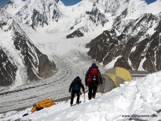 Camp 2 on Broad Peak in 2006
