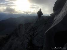 Jim in the cloud at sunrise