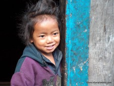 Love that hair! Young lady in the Khumbu,