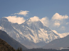 Everest and Lhotse from the Khumbu TrekEverest and Lhotse from the Khumbu Trek