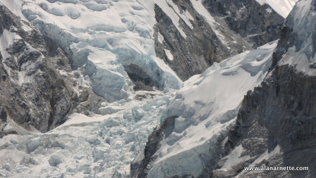 Hanging serac over the Icefall
