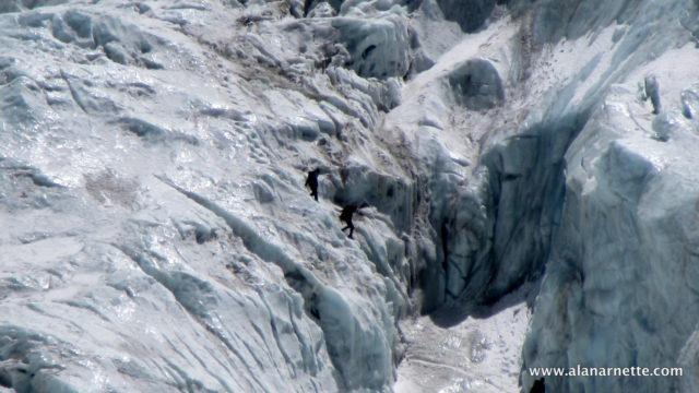 Climbers in Khumbu Icefall in 2016