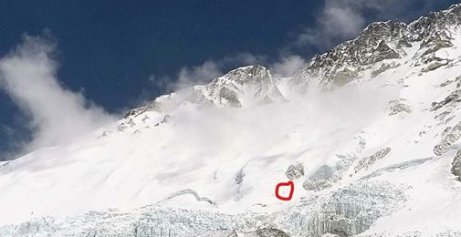 Ueli Steck climbing towards West Ridge. courtesy of Jim Davidson