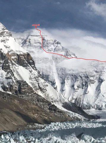 Nobukazu Kuriki 2017 Everest RouteNobukazu Kuriki 2017 Everest Route