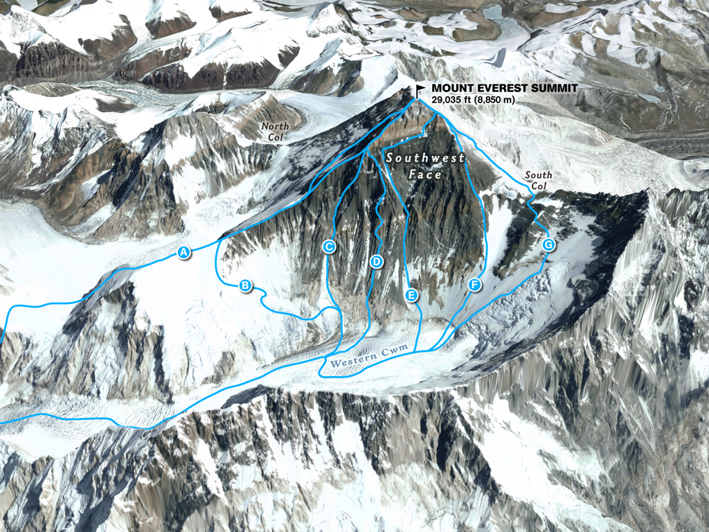 Comparing the Routes of Everest - 2018 edition | The Blog on ...