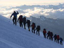 Mike Hamill leading Elbrus Team