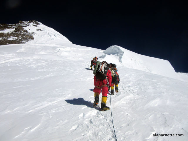 Leaving C3 for C4 on K2 in 2014. by Alan Arnette