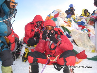Alan on Everest summit