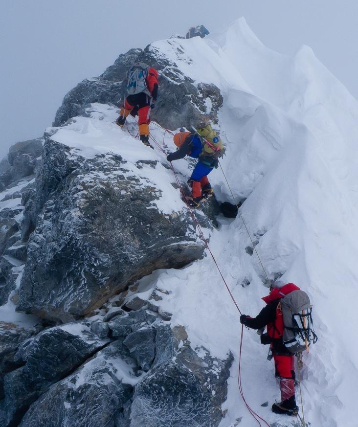Climbing the Hillary Step