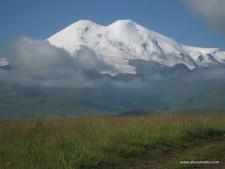 Touching the Elbrus Snow