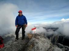 Alan on Carstensz Pyramid's Summit October 22,   2011 7:00 AM