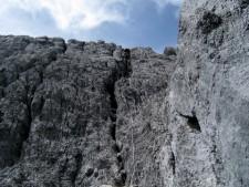 Last Chimney to the Summit Ridge