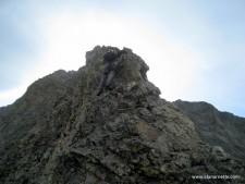 Alan Climbing Little Bear West Ridge