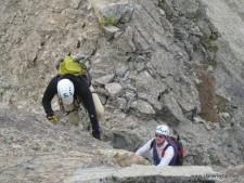 Barry and Tom Climbing Little Bear West Ridge