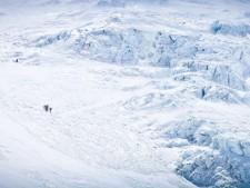 The Europeans approaching the rope fixing team on the Lhotse Face Courtesy of Elia Saikaly www.eliasaikaly.com