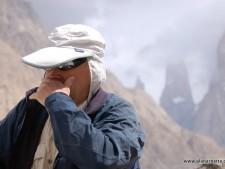 Alan sick in the Karakorum