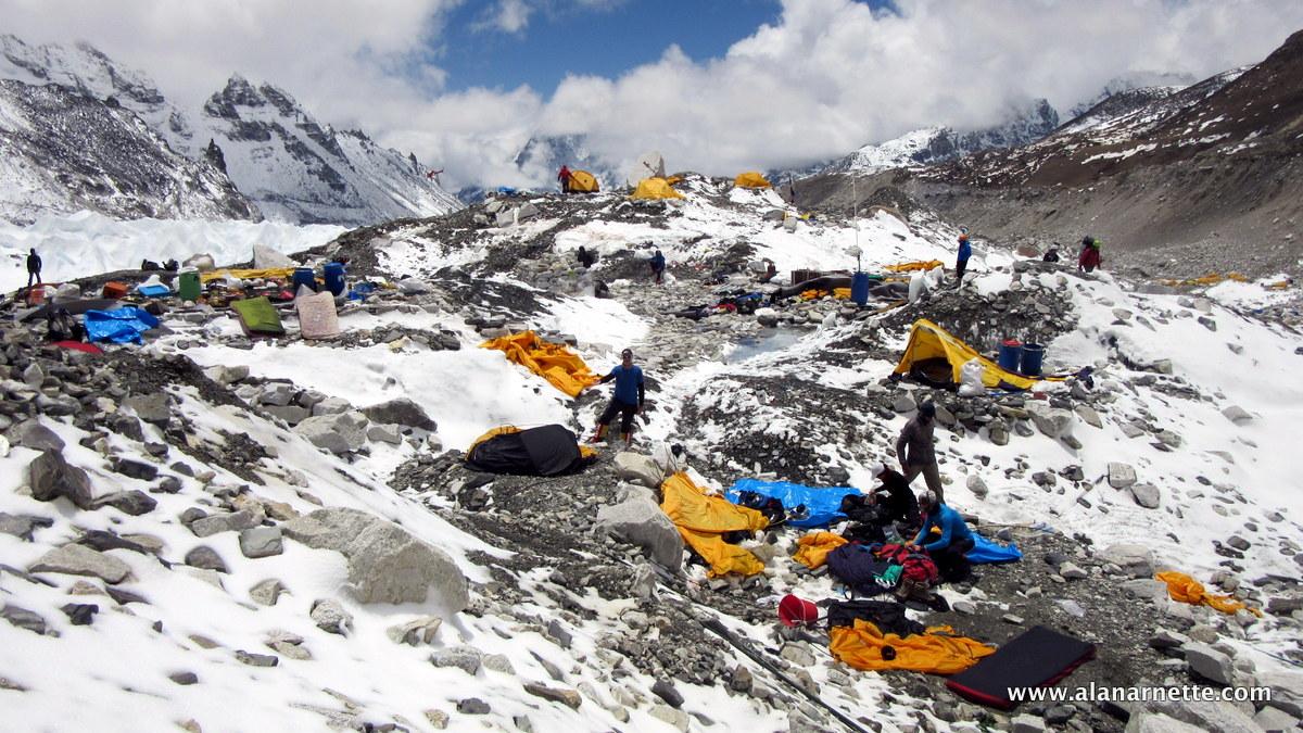 Base Camp after earthquake - Everest 2015
