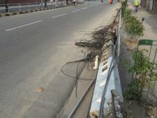 down power lines in Kathmandu