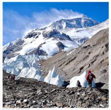 Windy North Everest courtesy of Ralf Dujmovits