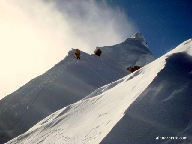 Phurba Tashi Sherpa, Himex Sidar, fixing route to Manaslu summit in 2013
