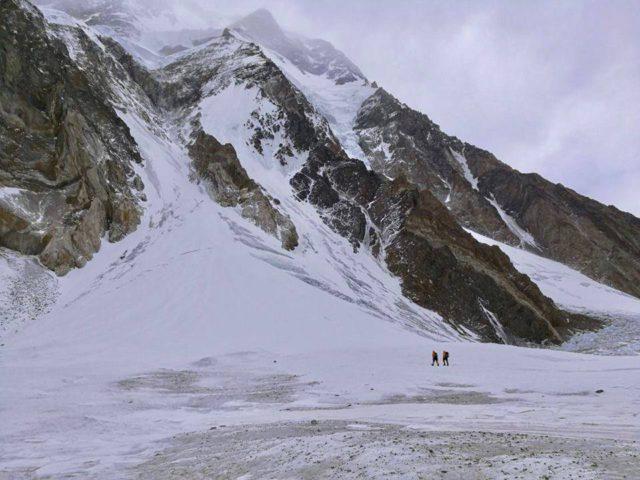 Base of Cesen Route. Polish Winter K2