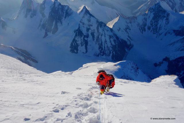 Approaching K2 Summit 2014 © www.alanarnette.com